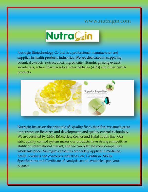 Botanical Extract Nutragin Biotechnology Co.Ltd.