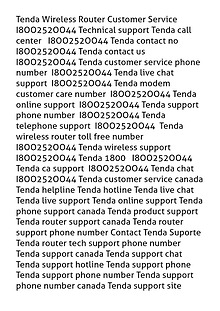 Tenda Wireless Router Customer Service I8OO252OO44 Technical support
