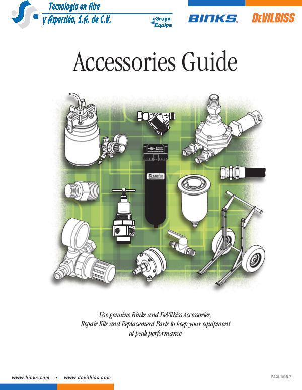 Guia de Accesorios Devilbiss & Binks Accesorios Devilbiss & Binks