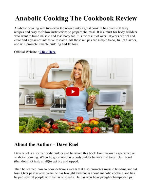 Anabolic Cooking PDF / CookBook Is Dave Ruel eBook Free Download?