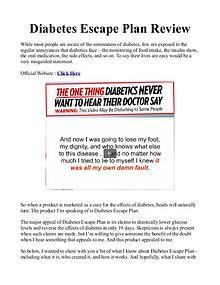 Diabetes Escape Plan PDF / Gary Martin