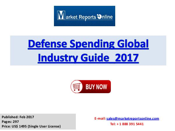 2017 Global Defense Spending Market Growth Analysis and 2021 Forecast Defense Spending Global Industry Guide_2017