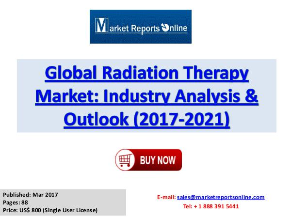 Radiation Therapy Market Research Report and Trends Forecasts 2021 Radiation Therapy Industy Research Report
