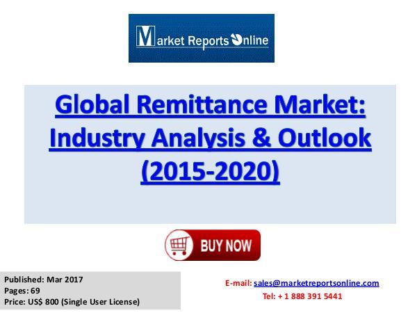 Remittance Market Global Analysis 2017 Global Remittance Market Industry Analysis & Outlo