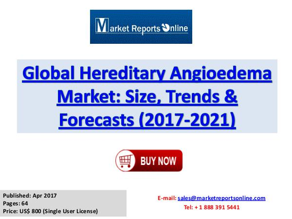Hereditary Angioedema Market Global Analysis 2017 Global Hereditary Angioedema Market Size, Trends &
