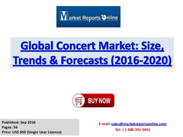Concert Market Global Analysis 2017 Global Concert Market Size, Trends & Forecasts (20