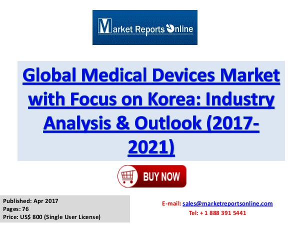 Medical Devices Industry: Global Market Size, Share, Growth 2017 Medical Devices Industry Global Market