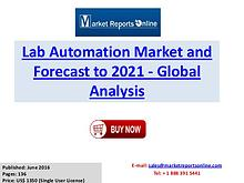 Lab Automation Industry Growth Analysis and Forecasts To 2021
