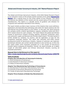 Vancomycin Market Growth Analysis and Forecasts To 2022
