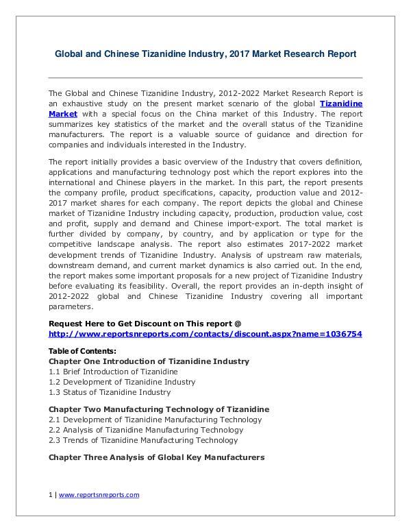 Tizanidine Market Growth Analysis and Forecasts To 2022 2017 Global Tizanidine Market Growth Analysis 2022