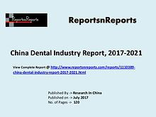 Dental Market Research Report and Trends Forecasts 2017 to 2020