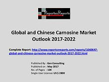 Carnosine Market Growth Analysis and Forecasts To 2022