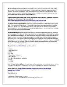 Global Aluminum Oxide Market Research Report 2017