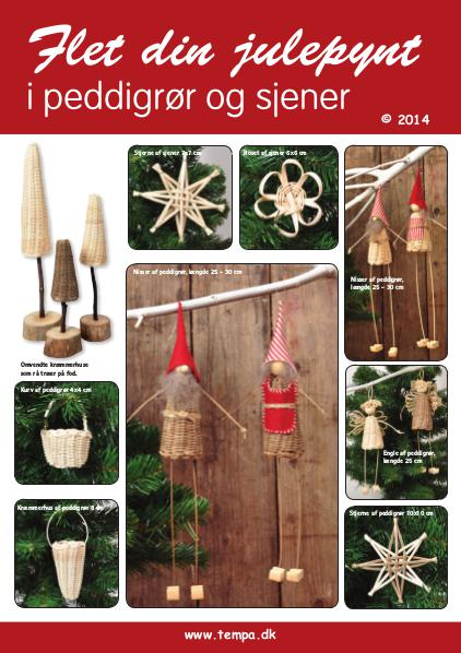 Flet dit julepynt af peddigrør(rattan) Flet dit julepynt