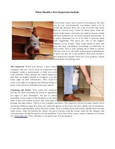 Pest Control Tips 31.07.2013