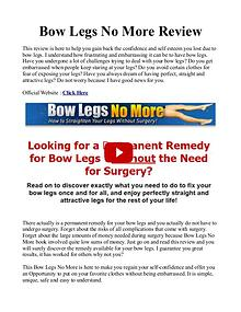 Bow Legs No More PDF / Exercises Free Download