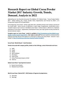 World Cocoa Powder Top Market share and growth rate of Cocoa Powder i