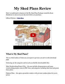 My Shed Plans PDF / Reviews