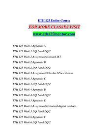 ETH 125 MENTOR Motivated Minds/eth125mentor.com