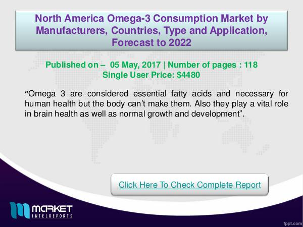 My first Magazine North American Omega-3 Consumption Market 2022