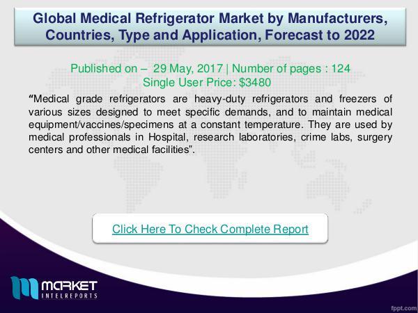 My first Magazine Global Medical Refrigerator Market Analysis 2022-