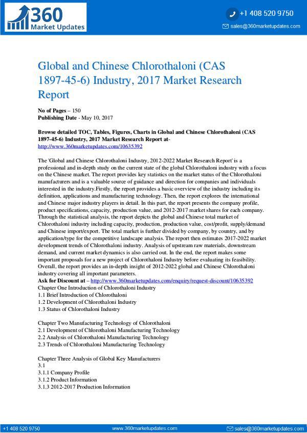 Report- Chlorothaloni-CAS-1897-45-6-Industry-2017-Market-R