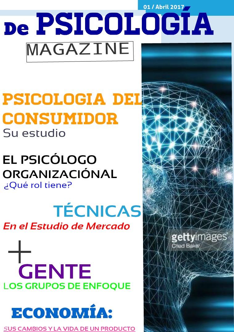 De PSICOLOGÍA MAGAZINE 01 / Abril 2017