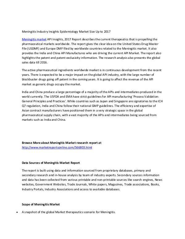 Meningitis Market Shares Lymphoma Market