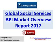 Social Services API Manufactures, Industry Analysis  2017