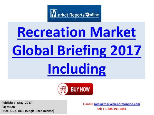 Global Recreation Industry 2017 Trends Analysis and 2020 Forecasts Re Recreation Market