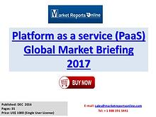 Platform as a service (PaaS) Global Industry Insights Report 2017