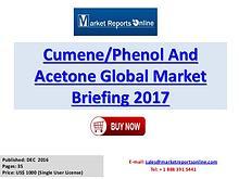Global Cumene Phenol and Acetone Industry Report 2017