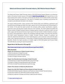 Cobalt Tetroxide Industry 2017 Market Trends and Competitive Landscap
