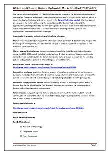 Barium Hydroxide Industry 2017