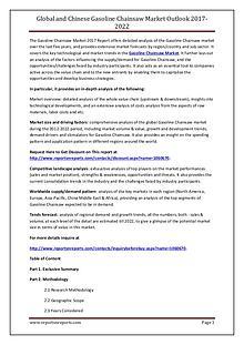 Gasoline Chainsaw Market Application, Regional Outlook 2021