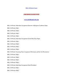 REL 134 HOMEWORK Exciting Results – rel134homework.com