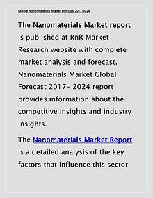 Nanomaterials Market Global Forecast & Industry Trends 2017 Report