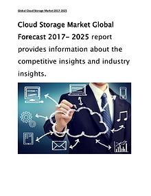 Cloud Storage Market 2017 Top Key Players, Trend, Size & Share Report