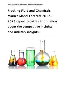 Global Fracking Fluid and Chemicals Market Forecast Report 2017