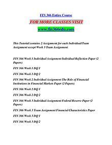 FIN 366 EDU Motivated Minds/fin366edu.com