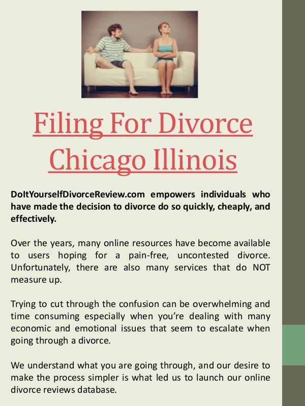 Printable Divorce Papers Chicago Illinois Filing For Divorce Chicago Illinois
