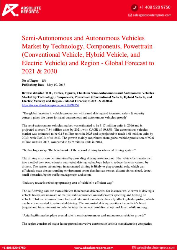 Automotive Semi-Autonomous-and-Autonomous-Vehicles-Market-by-
