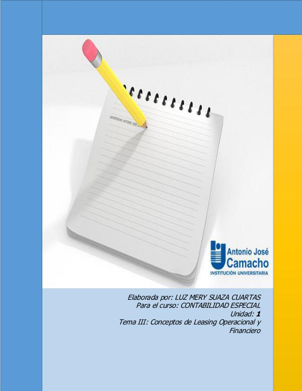 CONCEPTOS DE LEASING OPERACIONAL Y FINANCIERO LEASING REVISTA PDF