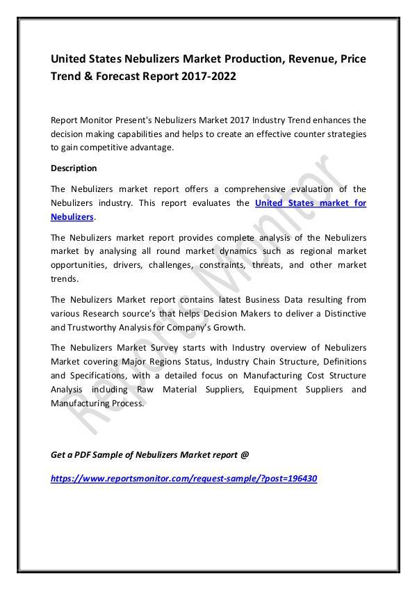 United States Nebulizers Market Production, Revenu