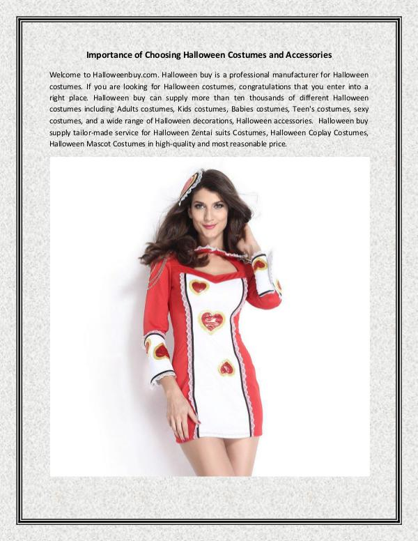 Importance of Choosing Halloween Costumes and Accessories halloweenbuy.com