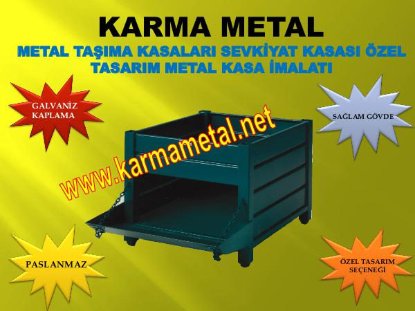 KARMA METAL Galvaniz kaplamali paslanmaz metal tasima kasalari fiyati metal tasima kasasi kasalar