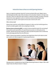 Unlock the Doors of Success with Upswing Solution