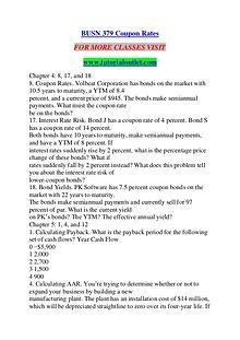 BUSN 379 Coupon Rates/TUTORIALOUTLET DOT COM