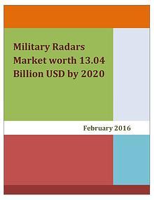 Military Radars Market worth 13.04 Billion USD by 2020