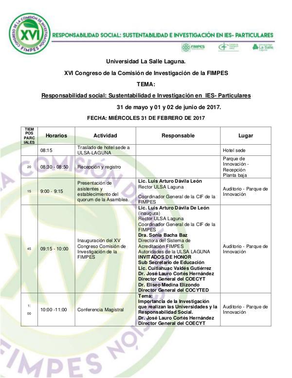 Programa CIF ULSA Programa